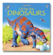 child dinosaur flap book